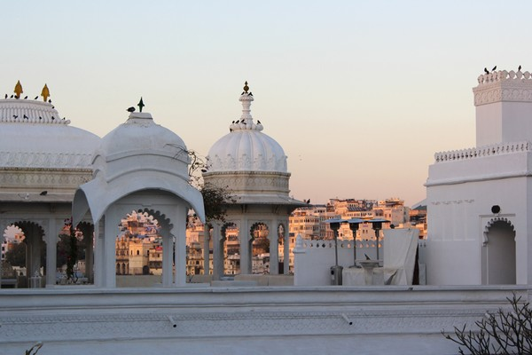 Taj Lake Palace Hotel in Udaipur at Sunrise